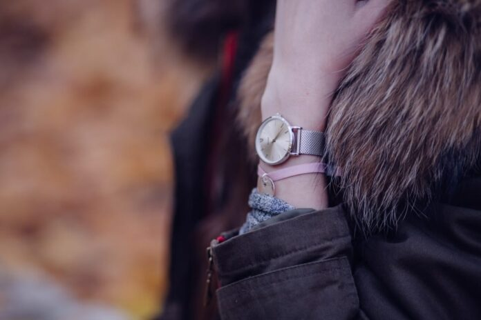 Wrist Watch wearing Woman