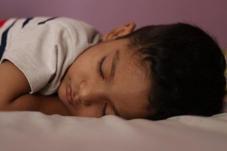 A teen is sleeping