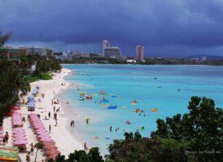 The beach of Guam Reef Resort