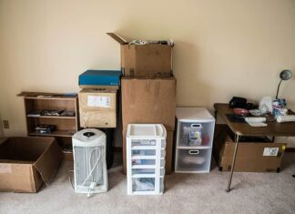 Boxes moving out office business relocation