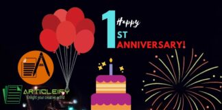 Articleify 1st happy anniversary