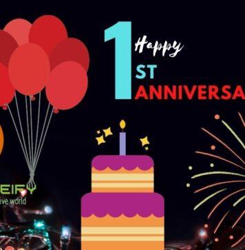 Articleify 1st happy anniversary
