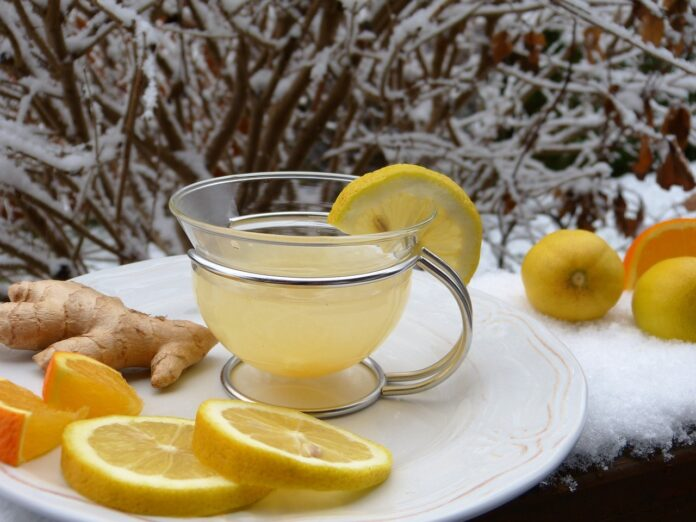 Lemon ginger tea